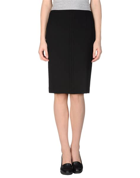 mauro grifoni knee length skirt in black