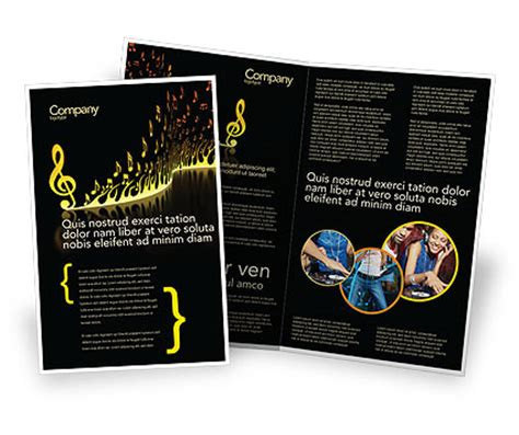 modern music brochure template design and layout download