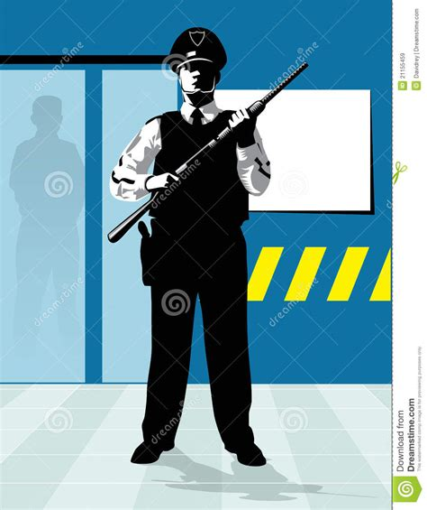 security guard shotgun stock vector image of guard
