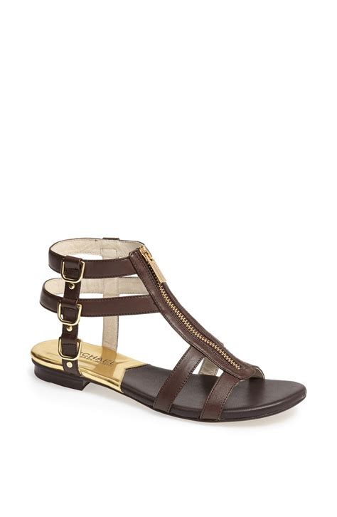 michael kors gladiator sandals michael michael kors kennedy flat leather gladiator sandal