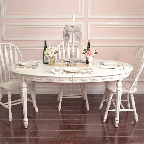 shabby oval dining table mediterranean dining