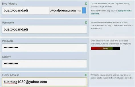 cara membuat blog di wordpress 2015 cara membuat wordpress gratis tugas tik smpn 45 surabaya
