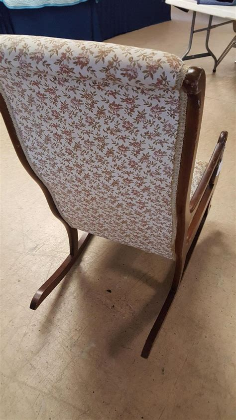 padded rocking chair uk vintage swan arm upholstered rocking chair