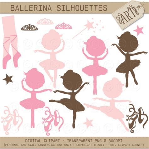 silhouettes  ballerina graphics clip art luvly