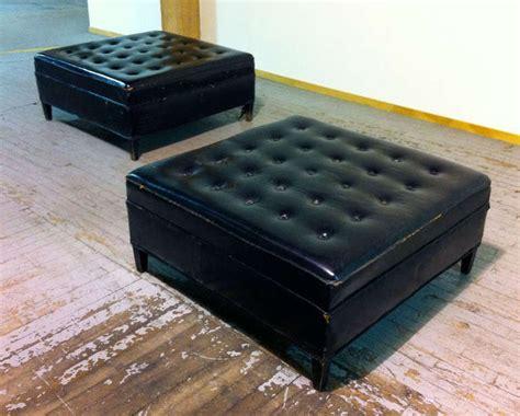 furniture bright white leather tufted modern rectangle designer ottomans phase design reza feiz designer wired