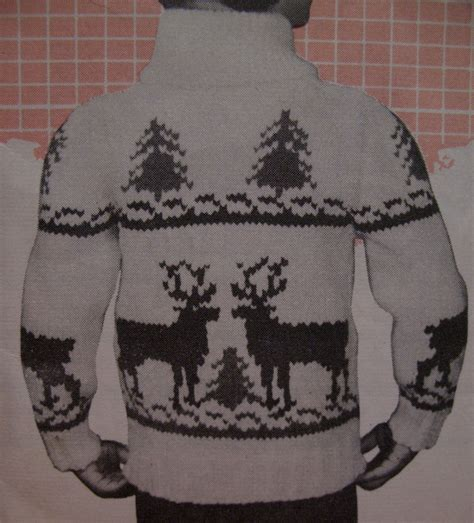 knitting pattern reindeer jumper vintage maxim reindeer sweater knitting pattern child