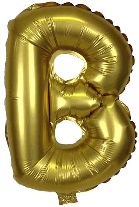 Gold Foil Balloon B 16 quot foil mylar balloon gold letter b