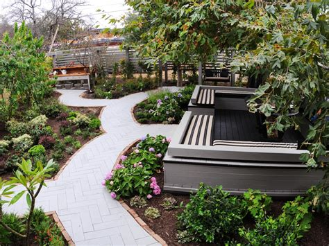 backyard pathways winding walkway a herringbone pathway leads to destinations in this landscape including