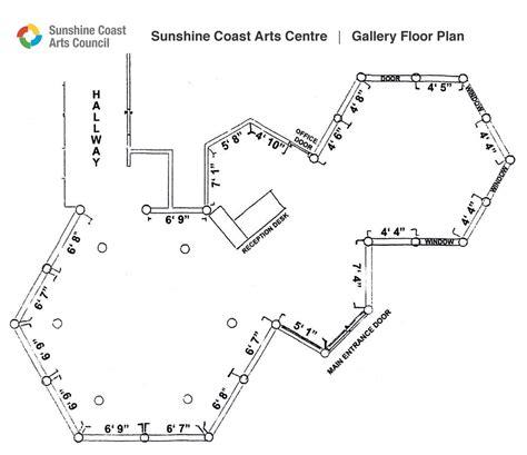 gallery floor plan sunshine coast arts council floor plan