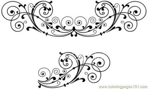 coloring pages hoto scroll decoration other gt decorations