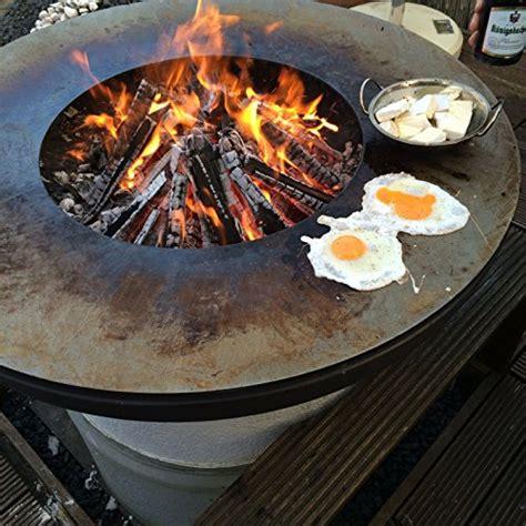 feuerschale öl remundi nero grill feuerstelle mit grillplatte
