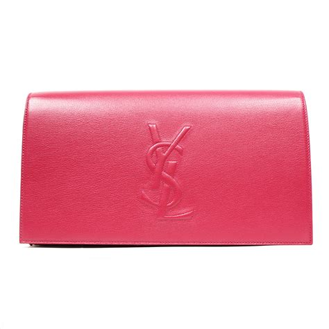 Pink Clutch yves laurent bag clutch ysl patent leather tote