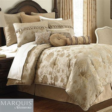 bedroom furniture waterford samantha gold comforter bedding from marquis by waterford