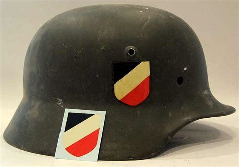 Ss Aufkleber Helm by Ww2 German Helmet Decal National Colours Et Ef M35 M40