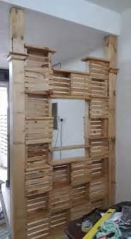 Pallet Room Divider Diy Pallet Office Room Divider 99 Pallets