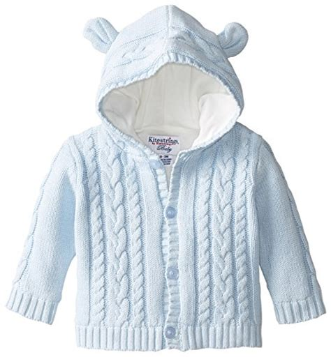 Rebels Baby Boys Infant Hooded Jacket Pullover And Kitestrings Baby Boys Newborn Lined Hooded Cardigab Sweater Light Blue 3 6 Months In The Uae