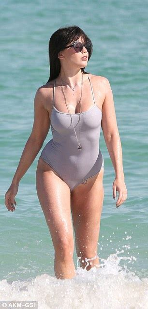 wife see thru bathing suit daisy lowe showcases curves in swimsuit as she turns heads
