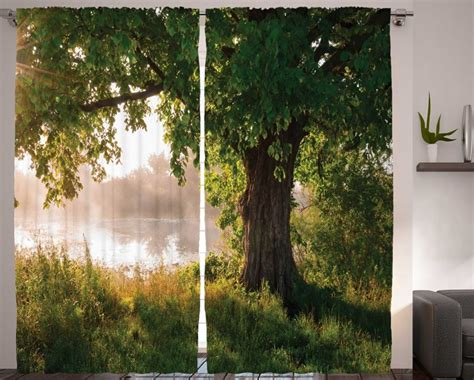 nature curtains nature curtains oak tree decor