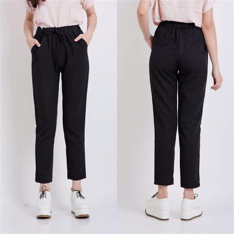 Celana Putih Cewek Wanita jual celana harem panjang tanggung cewek putih hitam