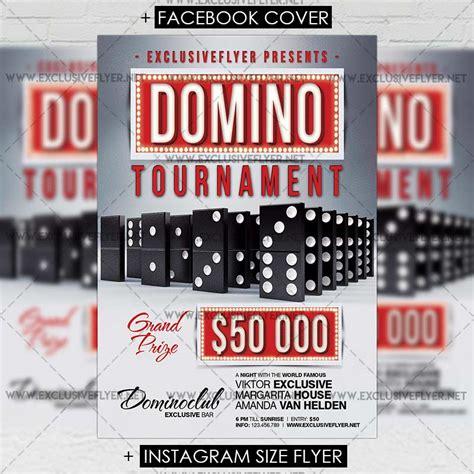 Domino Tournament Premium A5 Flyer Template Exclsiveflyer Free And Premium Psd Templates Tournament Flyer Template