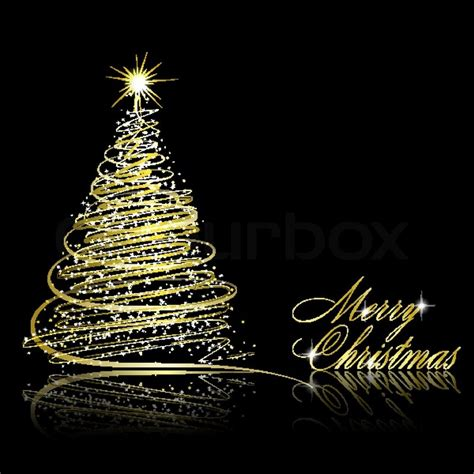 christmas tree on black background vector eps10