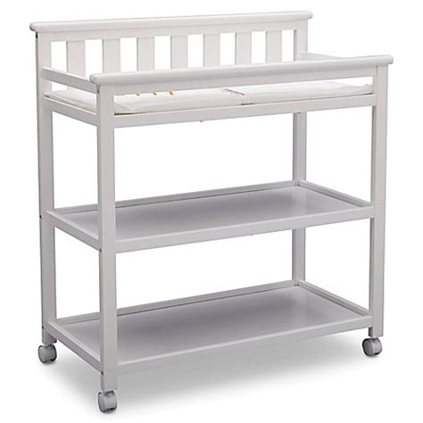 Delta Children Flat Top Changing Table In Bianca White Delta White Changing Table