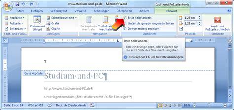 Word Vorlage Zweite Seite Word Kopfzeile Und Fu 223 Zeile Erstellen