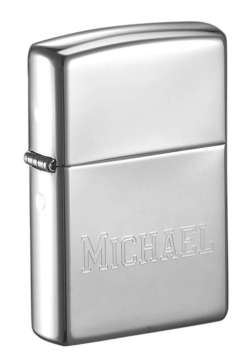 zippo lighter polished chrome personalized with free