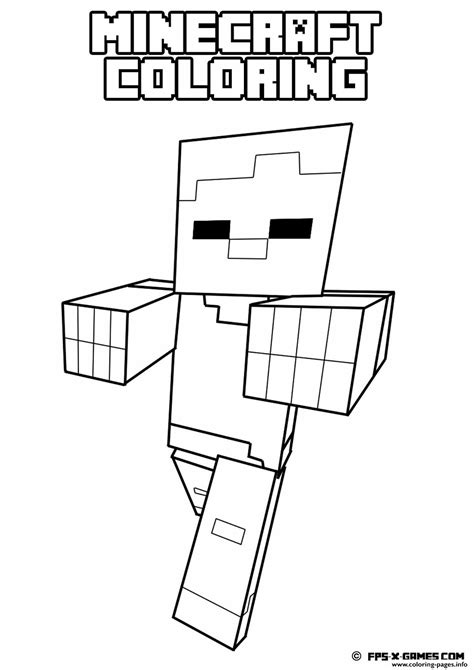 minecraft coloring pages horse free coloring pages of minecraft horses