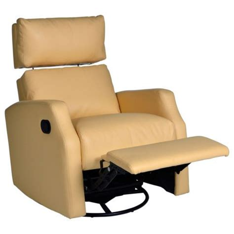 Yellow Leather Recliner 2 Lensey Swivel Rocker Recliners With Adjustable Headrest Pale Yellow Leather Great Room