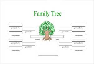 one sided family tree template simple family tree template 25 free word excel pdf