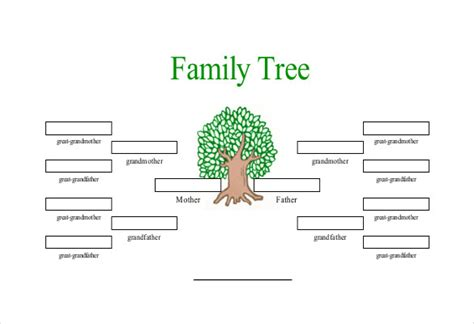 one sided family tree template guide to a family tree format roiinvesting