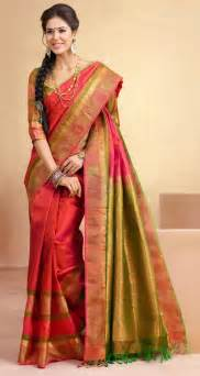 Latest Trendy Ideas Of Traditional Silk Saree For Girls
