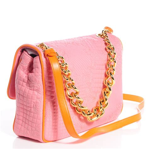 Versace Icon Satchel by Versace Leather Microvanitas Quilted New Icon Handbag Pink