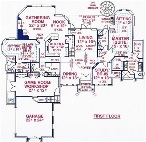 house plans with inlaw suite on first floor house floor plans with inlaw suite gurus floor