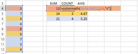 excel count colored cells count sum and average colored cells
