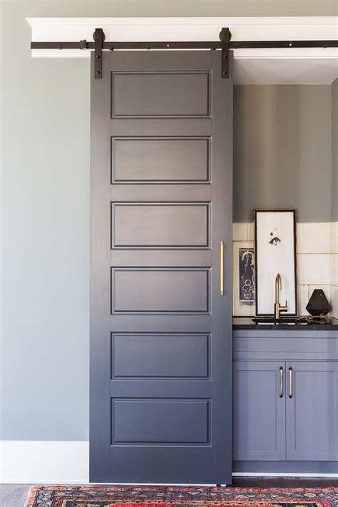 Interior Doors On Rails Bar With Sliding Doors Design Ideas