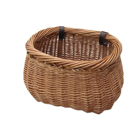 bike basket buy heritage wicker bicycle basket from the basket company