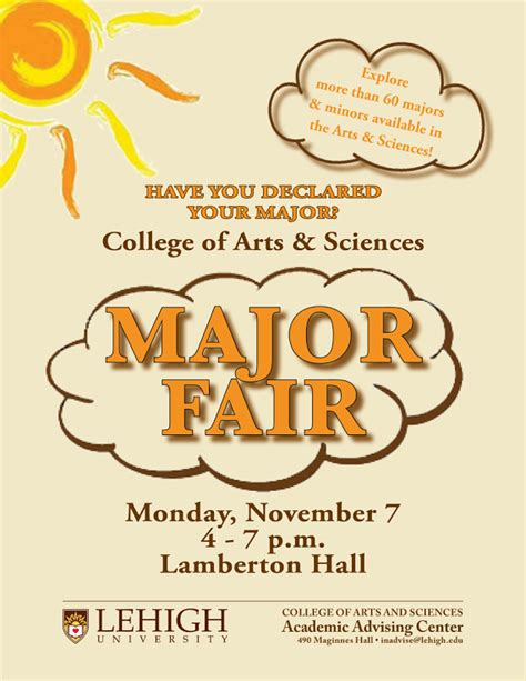 College Of Arts Sciences Of by College Of Arts And Sciences Major Fair Department Of