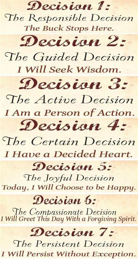 seven decisions paulpetersonlive com
