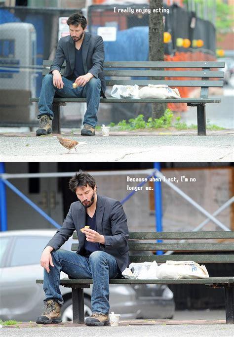 keanu reeves on a bench randomizer keanu sad threadbombing