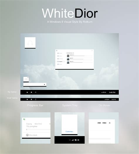 visual themes for windows 8 1 update whitedior visual style for windows 8 8 1 by