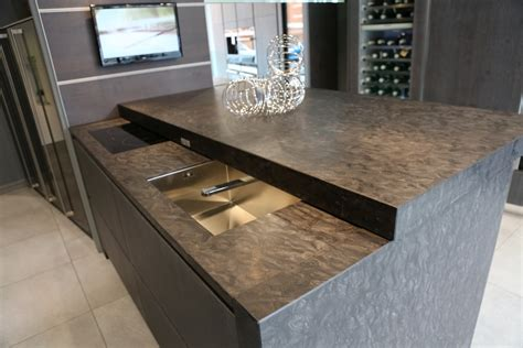breakfast bar with sink sliding worktop with hidden sink and hob creates