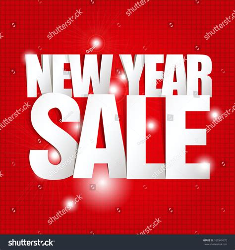 New Year Paper Folding - new year sale paper folding design stock vector