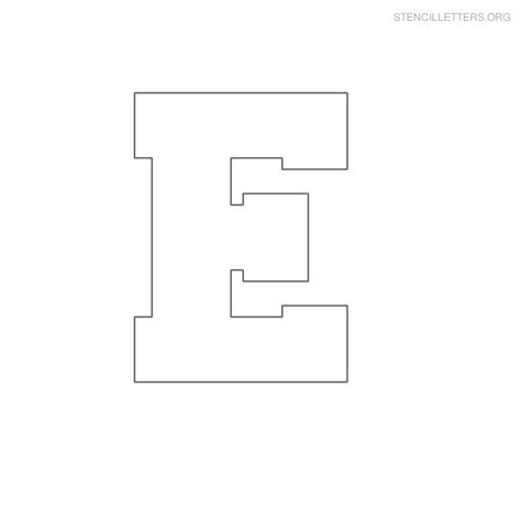 printable alphabet letter e 4 best images of printable block letter e block letter e