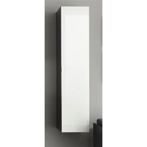 wall mount grey bathroom cabinet in white gloss