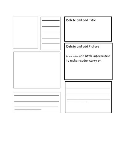 Booklet Template by Booklet Template By Bluerose Teaching Resources Tes
