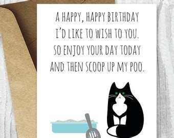 printable birthday cards with cats funny birthday cards for her printable birthday cards for