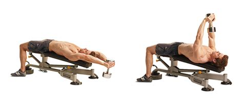 flat bench pullover a3 dumbbell pullover