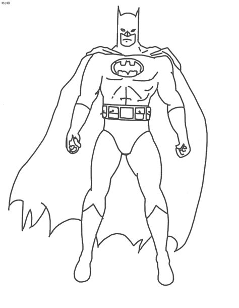 Printable Coloring Pages Batman | free printable batman coloring pages for kids